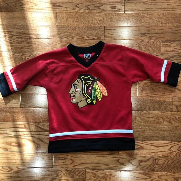 new arrival e9d7e ed78f Toddler Chicago Blackhawks NHL jersey